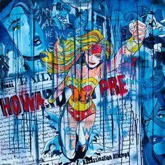Street art - Pop art - Artiste franco Belge Benjamin Spark - Inspiration comics - Super Héros