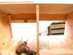 Attach door stops inside each nest box cavity to seal the gap above the door. Chicken Coop Kit, Diy Chicken Coop Plans, Chicken Pen, Chicken Coop Designs, Building A Chicken Coop, Pet Chickens, Chickens Backyard, Shade Perennials, Shade Plants