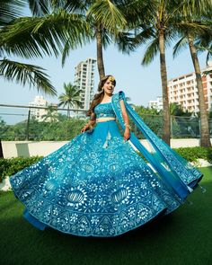 Indian designer blue lehenga choli for wedding outfits For order whatsapp us on wedding outfits wedding dress wedding dresses lengha lehnga sabyasachi manish malhotra Banarasi Lehenga, Blue Lehenga, Indian Lehenga, Bollywood Lehenga, Anarkali, Mehendi Outfits, Bridal Outfits, Blue Bridal, Indian Bridal