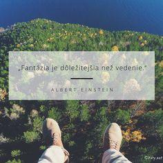 Fantázia je dôležitejšia než vedenie. - Albert Einstein