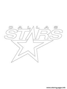 print dallas stars logo nhl hockey sport coloring pages