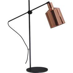 Masterlight Industria 4020 Boris retro Tafellamp - zwart / koper - afbeelding 1