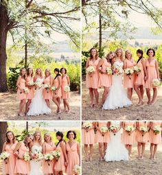 Luxury Okanagan Wedding Photographer,  © Eternal Reflections Photography, Okanagan Lake wedding photography  Coral bridesmaids dresses  Peach Bridesmaids dresses  Peach and grey wedding photography
