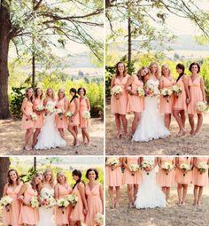 Luxury Okanagan Wedding Photographer,  © Eternal Reflections Photography, Okanagan Lake wedding photography  Coral bridesmaids dresses  Peach Bridesmaids dresses  Peach and grey wedding photography