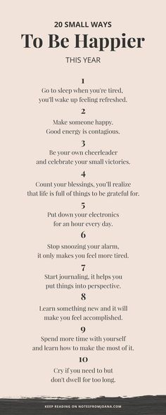 20 Small Ways To Be Happier