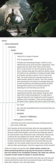 Medusa as a feminist icon. Greek women saw Medusa very differently than men did......