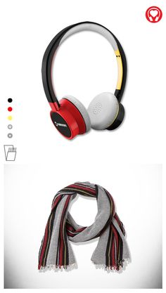 Gift for him: #Bright customized headphones inspired by #scarf for men by #Claudio #Cutuli