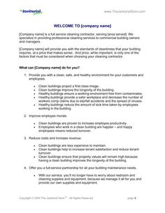 Cleaning Contract Template 3 Word Pdf Documents