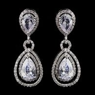 (I think this is where Trudy's gets their earrings too). Fabulous CZ Pear Cut Crystal Drop Wedding Earrings