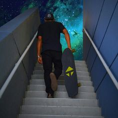 to infinity and beyond  #galaxy #onetown #longboarding #onetownboards #longboard #space #nebula #future #nolimits