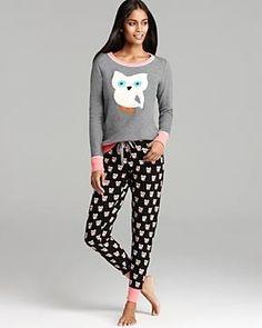 Owl pyjamas #sleepwear