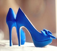 gorgeous blue high heels