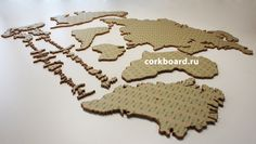 Cork map has side special sticky layer Cork World Map, Cork Map, Home Wall Decor, Continents, How To Apply, Templates, Stickers, Gifts, Etsy