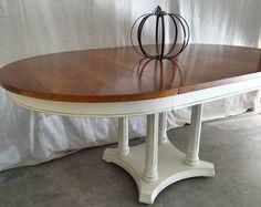 Finished my first dining table today!  #pumpkin #distressedfurniture #paintedfurniture #upcycledfurniture #refurbishedfurniture #reclaimedfurniture  #beautiful #vintagefurniture #rusticfurniture #chalkpaint #ecofriendly #recycled  #follow #home #shabbychicfurniture #furnitureflip #homedecor #interiordesign #losangeles #malibu #California