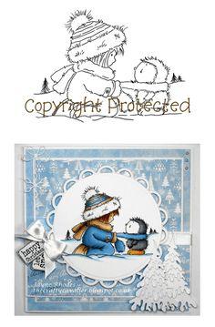 Digi Stamp - Cosy Penguin