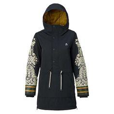 Burton Women's Chuteout Anorak Jacket - Large - True Black