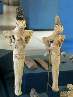 Lizard statues from the Ubaid period 4000-5000 BC before the Sumerians.