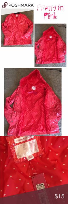 NWT Raincoat 🌂👑 Beautiful pink raincoat. Size XXL. New with tags. 🌂👑💁🏼 Jackets & Coats