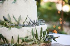 Real Wedding: Rustic Backyard Wedding— lavender wedding cake...noms