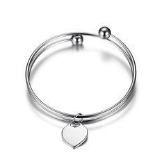 Silver Heart Shape ID Bracelet Personalized Gift For Women #personalizedgift #jewelryforwomen #giftideas #bracelet