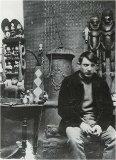 Pablo Picasso in his atelier