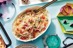 Freezer Coleslaw (80s) - 50 Years of Southern Recipes - Southernliving. Freezer coleslaws repeated throughout our eighties issues, and we can see why. This sweet and tangy slaw is perfect for pulled pork and hot dogs. Plus, it stays cold and crunchy longer.  Recipe: Freezer Coleslaw