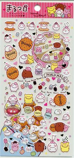 Image 0 of San-X Kawaii Collection Sticker Sheet #22 (I1162)