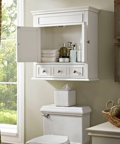 Another great find on #zulily! White Lydia Wall Cabinet by Crosley #zulilyfinds