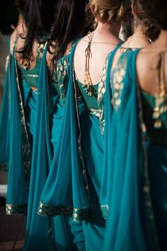 Super wedding indian fusion bridesmaid saree Ideas The Effective Pictures We Offer You About black wedding parties A quality picture can tell you many things. You can find the most beautiful pictures Indian Wedding Bridesmaids, Indian Bridesmaid Dresses, Bridesmaid Saree, Desi Wedding, Indian Dresses, Indian Outfits, Wedding Reception, Wedding Venues, Punjabi Wedding