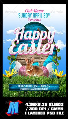 Happy Easter Menu FlyerV  Shops Template And Happy
