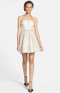 fd13e02d139 Way-In Embellished Lace Skater Dress (Juniors) available at  Nordstrom