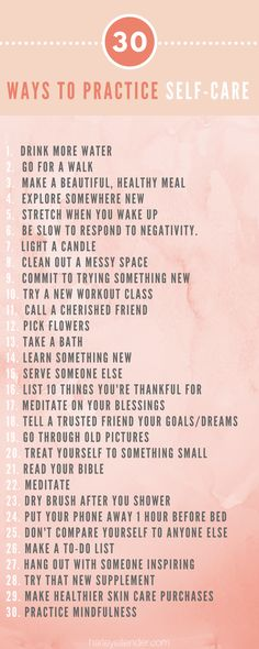 I can do this and it doesn't have to be the entire list. Be kind to myself! 30 Ways to Practice Self-Care. Small acts of mindfulness can change your whole day around. Try some of these today to feel more energized, centered, and whole. Mantra, Under Your Spell, Self Care Activities, Mindfulness Meditation, Mindfulness Practice, Meditation Music, Care Quotes, Self Care Routine, Wellness Tips