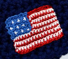Ravelry: Flag Embellishment / July 4th pattern by Christins from My Sweet Potato 3
