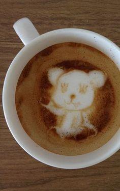 Panda Latte Art