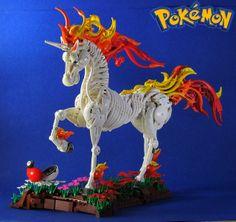 Great Lego sculpting. Pokemon: Rapidash. THE PRETTIEST POKEMON EVER!!