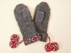 Knitting Projects, Knitting Patterns, Knit Mittens, Knit Fashion, Handicraft, Fingerless Gloves, Arm Warmers, Knit Crochet, Wool