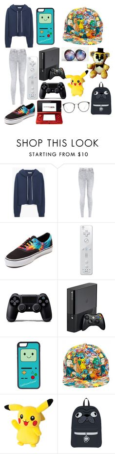 """gamer girl"" by faiththewizard ❤ liked on Polyvore featuring MANGO, Vans, Nintendo, Sony, CellPowerCases, Freddy, Linda Farrow, women's clothing, women's fashion and women"