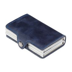57b1c9c7317 Secrid Twin Wallet Card Holder - Blue Vintage Leather #secridtwinwallet