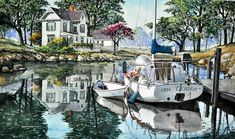 I could pin this anywhere - so many fantastic details!  Watercolor by Robert W Cook