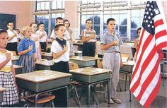 """Remember this? I still think saying the """"Pledge of Allegiance to the Flag"""", should still be a requirement in schools today!"""