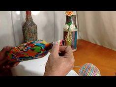 Garrafa decorada com vela/castiçal - YouTube