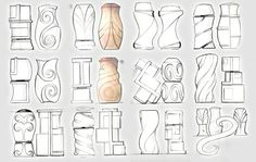 NOUDECO | Carved Shaker Set on Behance - Matt Seibert