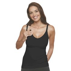 Basics Women's Felicity Slimming Nursing Cami. Super flattering and comfortable nursing tank. At $25, it's a steal!