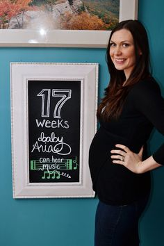 17 weeks! Pregnancy Chalkboard