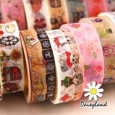 15mmX5M Animal Travel flowers Sushi Perfume Sakura Washi Tape Diary Masking Tape #Daisyland