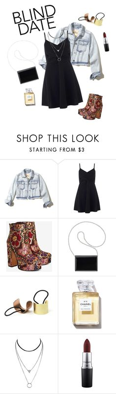 """Blind date"" by cheli-kkoch ❤ liked on Polyvore featuring Hollister Co., Miss Selfridge, Shellys, Nine West and MAC Cosmetics"
