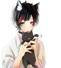 Anime Wolf, Anime Neko, Anime Cat Boy, Gato Anime, Cute Anime Boy, Cute Anime Couples, Kawaii Anime, Anime Guys, Manga Boy