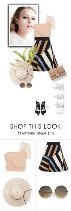 """12.07.2017"" by bliznec-anna ❤ liked on Polyvore featuring RED Valentino and Sandro"