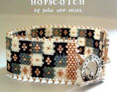 Pulseras peyote hopscotch – Etsy ES