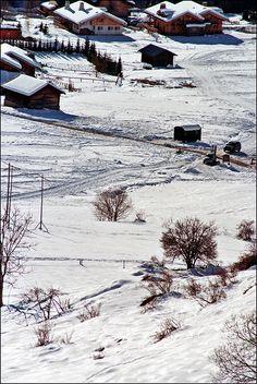 Verbier, a ski resort in the canton of Valais, Switzerland